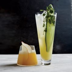 """For those guests who do not want an alcoholic beverage, offer them a Cucumber-and-Mint """"Fauxjito"""" 
