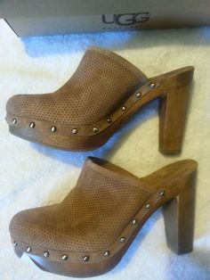 Check out New in Box UGG 15 Minute preforated high heel clog size 10 #UGGAustralia http://www.ebay.com/itm/-/131361854282?roken=cUgayN&soutkn=8Q8aZb via @eBay