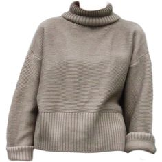 Brown Roll Neck Wool Sweater (68 CAD) ❤ liked on Polyvore featuring tops, sweaters, shirts, jumpers, woolen sweaters, brown shirt, woolen shirts, brown tops and brown jumper