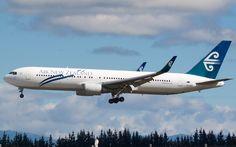Air New Zealand 767 arriving in Christchurch  Type: Boeing 767-319/ER Registration: ZK-NCK Location: Christchurch International Airport Date: 04/11/2012