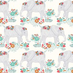 Elephant parade fabric by bethan_janine on Spoonflower - custom fabric