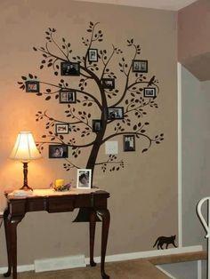 Family tree!!! Great wall decor!!! Bebe'!!! Love this idea!!!