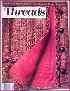 Threads Magazine June/July 1989 No. 23 Inside a Chanel Jacket
