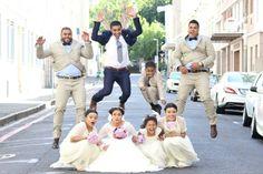 The jump shot. Lol. #surprised #bridalparty #theburnswedding