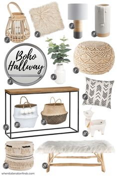 Choose from three simple hallway ideas, boho, industrial or blush, to create a practical and stylish entryway to your home - diy-home-decor Boho Living Room, Interior Design Living Room, Modern Living Room Decor, Sage Living Room, Modern Chic Decor, Modern Bohemian Decor, Boho Chic Interior, Bohemian Furniture, Ikea Living Room