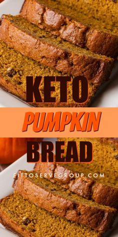 My recipe for keto pumpkin bread is a pumpkin spice lover's dream. It's an easy recipe for low carb pumpkin bread that is loaded with the spices we love in the fall. Keto Friendly Desserts, Low Carb Desserts, Low Carb Recipes, Diet Recipes, Slimfast Recipes, Dessert Recipes, Recipes Dinner, Low Carb Pumpkin Bread Recipe, Smoothie Recipes