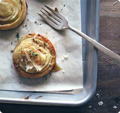 Apple and Goat's Cheese Tartlets with Thyme Honey