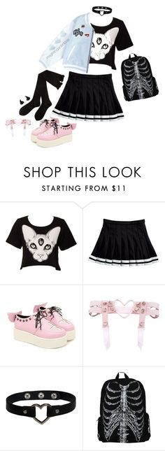 Pastel Goth Fall ~ by this-perfect-dream on Polyvore featuring Kill Star and Kreepsville 666