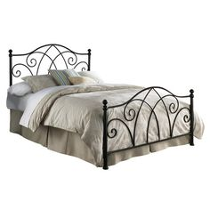 The FBG Deland Metal Bed looks great in a cottage or country setting. A brown sparkle powder coated finish adds welcome detail to the texture of the bed. Bed Reviews, Business Furniture, Beds Online, Metal Beds, New Beds, Panel Bed, Bed Styling, How To Make Bed, King Beds