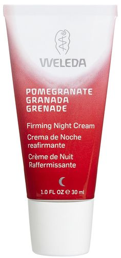 Weleda Pomegranate Firming Night Cream. I have almost used up my tube of this night cream. It's no miracle worker but it's a nice cream.