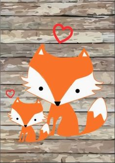 Free Printable Greeting Cards These cards will fit any envelope. I would suggest printing them on card stock for a heavier feel an. Woodland Creatures, Woodland Animals, Forest Animals, Fox Party, Fox Crafts, Little Presents, Ideias Diy, Woodland Theme, Forest Friends