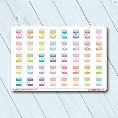 Pill Bottle Planner Stickers - Icon - Erin Condren Life Planner - Happy Planner - Prescription Medication - Vitamins - Matte or Glossy