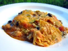 """Chicken Taco Casserole   Plain Chicken - this casserole doesn't look all that """"pretty"""" but is amazing and very easy to make!"""