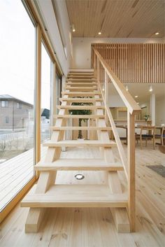 Modern Japanese Architecture, Architecture Design, Woodworking Projects Diy, House In The Woods, My Room, My Dream Home, Home And Living, Stairs, Loft