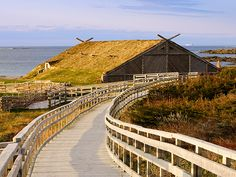 Explore an ancient Viking settlement at the UNESCO World Heritage site L& aux Meadows, one of Canada& 50 Places of a Lifetime. Newfoundland Island, Newfoundland Canada, Newfoundland And Labrador, Beautiful Places To Visit, Oh The Places You'll Go, Fotos Do Canada, L'anse Aux Meadows, Viking Village, National Geographic Travel