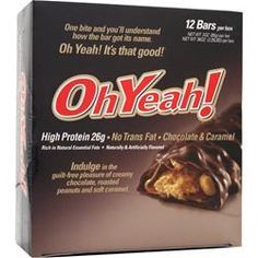 Oh Yeah! bars are the bomb!  Low carb, high protein and very yummy!