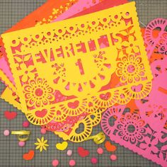 Papel Picado Banners, Personalized Fiesta Birthday Banners, Customized Flags for Cinco de Mayo, Weddings all Mexican Themed Parties!