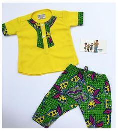 Baby African Clothes, African Dresses For Kids, African Clothing For Men, African Shirts, Latest African Fashion Dresses, African Print Fashion, African Wear, African Kids, Vintage Kids Fashion