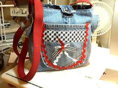 Blue jean purse by Mona Derrow