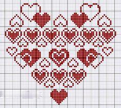 От чистого сердца: 40 простых схем вышивки сердечек крестиком - Ярмарка Мастеров - ручная работа, handmade