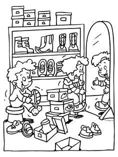 kleurprent schoenwinkel