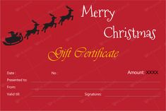 Christmas Gift Card Template 5 Awesome Christmas Gift Certificate Templates To End Printable Christmas Gift Certificate Template, Christmas Gift Certificate Template 11 Word Pdf Documents,