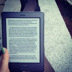 reading on a kindle... love to do this!