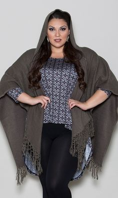 Hooded Poncho $49.90 by SWAK Designs #swakdesigns #PlusSize #Curvy