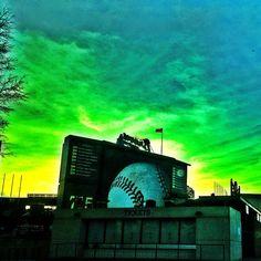 Turner Field at sunset