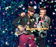 Chris Martin and Jonny Buckland