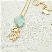 Extra long sea glass pendant