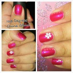 Nail Art with Nail Polish China Glaze and stickers