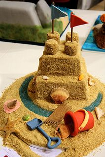 Fabulous sandcastle cake from the Cake & Bake Show by nicisme