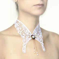 Lace collar necklace Victorian bridal jewellery  by MySecretFace, $32.00