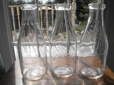 Antique Embossed & Painted Label Milk Bottles mostly NS Dairies for ...