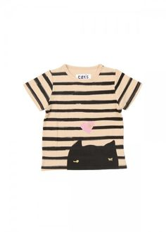 Black cat t-shirt by Tsumori Chisato.