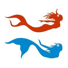 Mermaid Silhouette SVG Cuttable Design