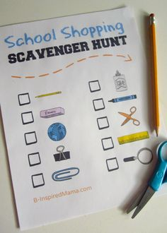 How do you tackle school supply shopping?  Do you take the kids with you?  Or go on your own?    -   Kids Back to School Shopping Scavenger Hunt [Sponsored by White Cloud] - #kids & #parenting at B-InspiredMama.com
