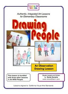 Drawing People - observation drawing focusing on shapes, proportion, space, and color.  No more stick people!