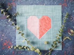 Join Andrea Tsang Jackson of 3rd Story Workshop as she shows you how to make a heart block from her newest quilt pattern. Pattern Blocks, Quilt Patterns, Block Patterns, Stitch Lines, Design Fields, Quilting Projects, Quilting Ideas, Block Party, Valentines Day Hearts