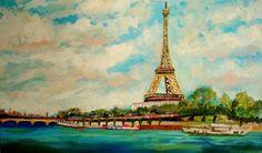 My Creative Life: EIFFEL TOWER ART 48 X 28