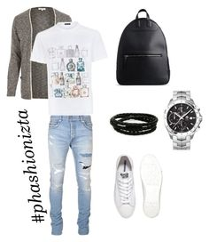 """Untitled #114"" by phashionizta on Polyvore featuring River Island, Balmain, Versace, Converse, TAG Heuer, Porsche Design, Maison Margiela, men's fashion and menswear"