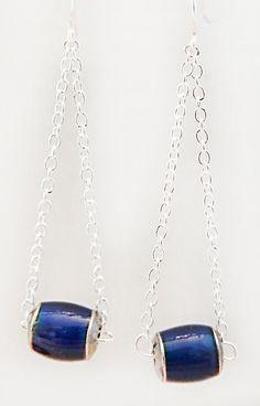 Mood bead earrings, mood bead jewelry, mood beads, silver plate chain, beads change color, dangle earrings, dangle jewelry, 0847+ by EarringsBraceletsEtc on Etsy