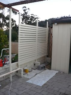 Lattice fence privacy screens and lattices on pinterest for Carport privacy screen