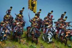 """"""" Austrian Uhlans (3rd regt.), I think it has been one of the figures, more complicated that I painted."""" painted by: David Vazquez Fernandez"""