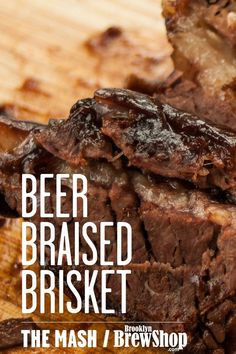 Beer Braised Brisket Cooking with Beer Chocolate Maple Porter Braise Slow Cooked Dutch Oven Super Bowl Recipes