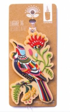 Make your luggage stand out from the rest with this cool Tui tag. Space on the back for you to add your contact details or customised message. Great for that Summer getaway and only $15.00 from Texan Art Schools