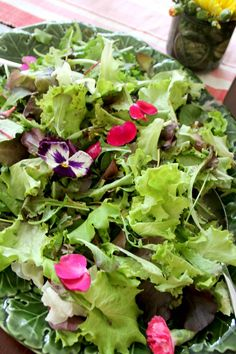 "Wildflower salad from a ""Wild & Three"" 3rd Birthday Party on Kara's Party Ideas 