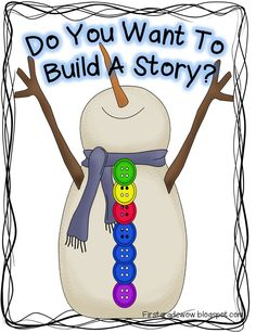 First Grade Wow: Let It Snow! Snowman Retelling Practice FREEBIE