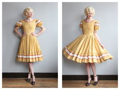 1960s Dress // Square Dance Dress // vintage by dethrosevintage
